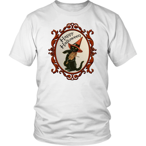 Happy Halloween Vintage Cat and Fiddle Unisex T-Shirt