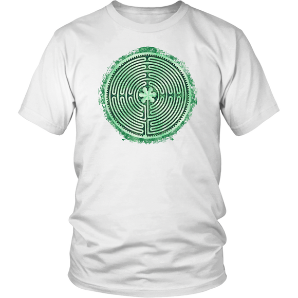 Chartres Cathedral Labyrinth Shirt White