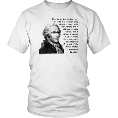 Federalist Papers 68 - Hamilton Quote T-Shirt