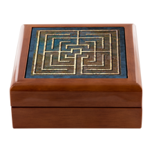 Load image into Gallery viewer, Conimbriga Labyrinth Jewelry Box in Red Mahogany, Golden Oak, or Ebony Black