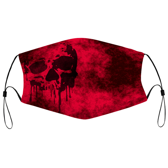 pirate, skull, drip, black, red, grunge