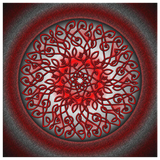 Celtic Art Burst in Red and Black Canvas Wall Art
