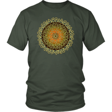 Load image into Gallery viewer, Celtic Art Burst in Autumn - Single-line Celtic Knot Unisex T-shirt