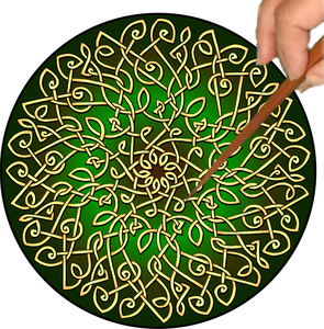 Celtic Burst Mandalynth - Sage - Mindful Tracing Art for Stress, Anxiety and Attention Management