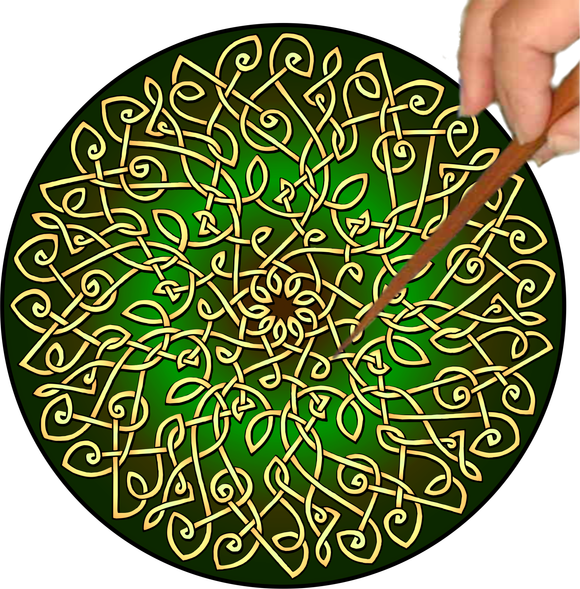 Celtic Burst Mandalynth - Mindful Tracing Art for Stress, Anxiety and Attention Management