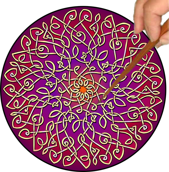 Celtic Burst Mandalynth - Sunrise - Mindful Tracing Art for Stress, Anxiety and Attention Management