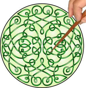 Celtic Curls Mandalynth - Mindful Tracing Art for Stress, Anxiety and Attention Management