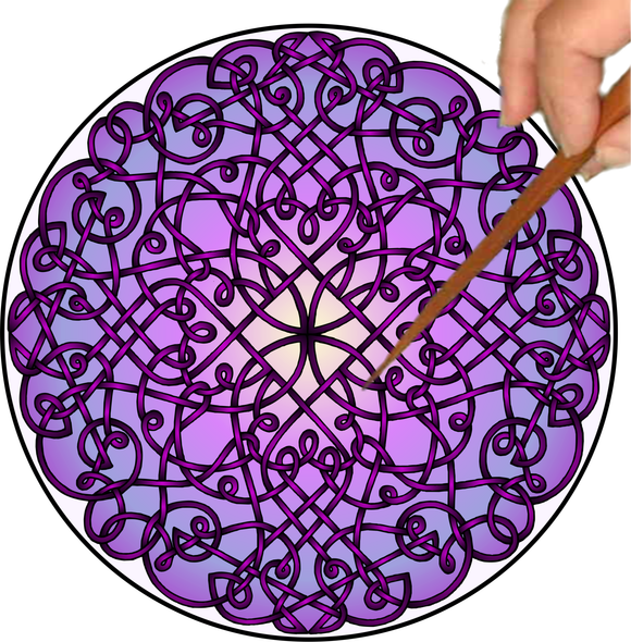 Celtic Curlz Mandalynth - Mindful Tracing Art for Stress, Anxiety and Attention Management