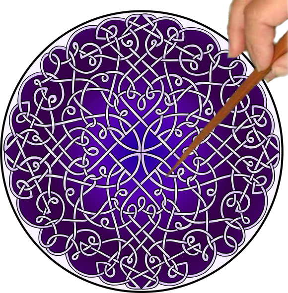 Celtic Curlz Mandalynth - Purple - Mindful Tracing Art for Stress, Anxiety and Attention Management