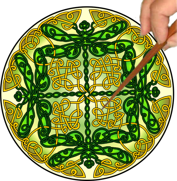 Celtic Dragonflies Mandalynth - Mindful Tracing Art for Stress, Anxiety and Attention Management