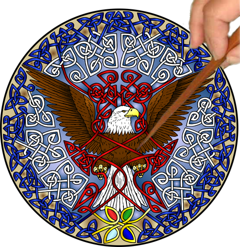 Celtic Eagle Mandalynth - Mindful Tracing Art for Stress, Anxiety and Attention Management