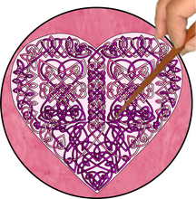 Load image into Gallery viewer, Celtic Hearts Mandalynth - Mindful Tracing Art for Stress, Anxiety and Attention Management