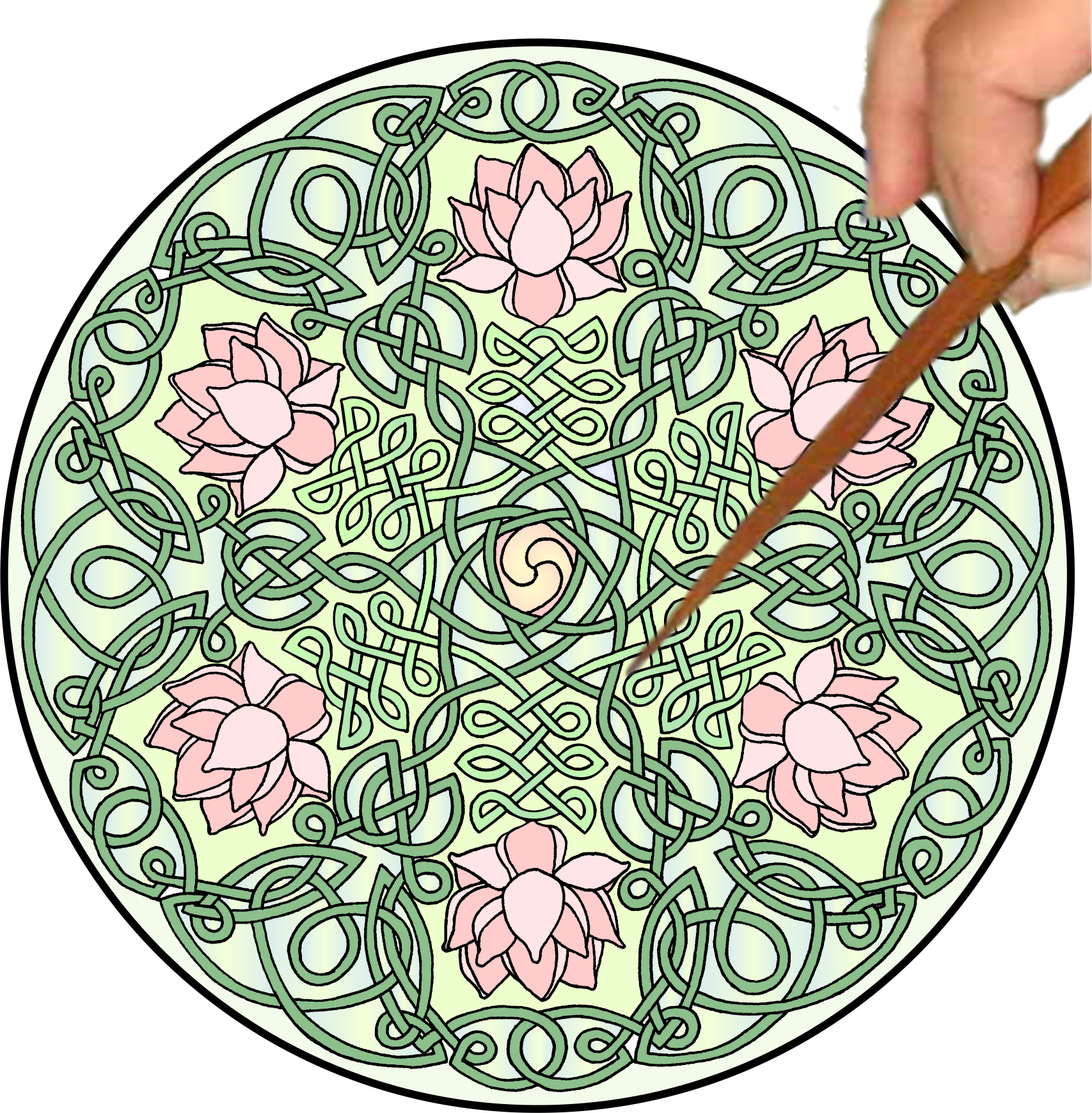 Celtic Lotus Mandalynth Mindful Tracing Art For Stress Anxiety