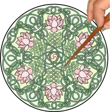 Load image into Gallery viewer, Celtic Lotus Mandalynth - Mindful Tracing Art for Stress, Anxiety and Attention Management
