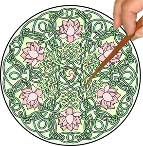 Celtic Lotus Mandalynth - Pink - Mindful Tracing Art for Stress, Anxiety and Attention Management