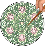 Celtic Lotus Mandalynth - Mindful Tracing Art for Stress, Anxiety and Attention Management