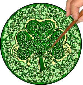 Celtic Shamrock Mandalynth - Mindful Tracing Art for Stress, Anxiety and Attention Management