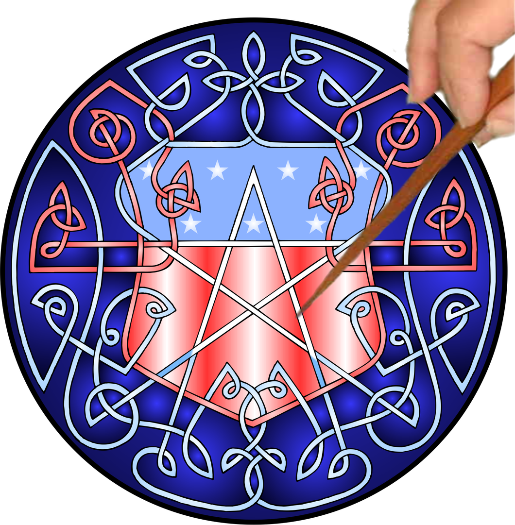 Celtic Star Shield Mandalynth - Mindful Tracing Art for Stress, Anxiety and Attention Management
