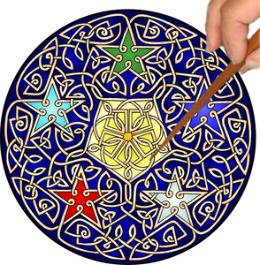 Celtic 5 Stars Mandalynth - Mindful Tracing Art for Stress, Anxiety and Attention Management