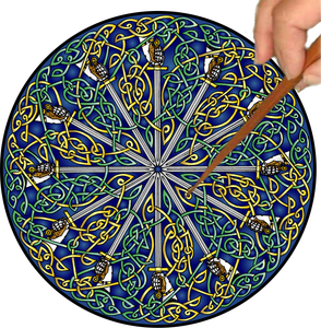 Celtic Swords Mandalynth - Mindful Tracing Art for Stress, Anxiety and Attention Management
