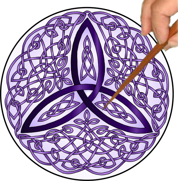 Celtic Trinity Knot Mandalynth - Purple - Mindful Tracing Art for Stress, Anxiety and Attention Management