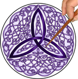 Celtic Trinity Knot Mandalynth - Mindful Tracing Art for Stress, Anxiety and Attention Management