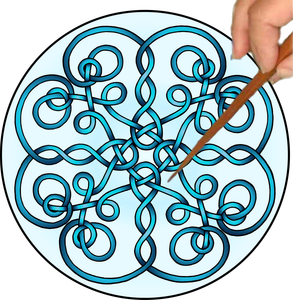 Celtic Twists Mandalynth - Blue - Mindful Tracing Art for Stress, Anxiety and Attention Management