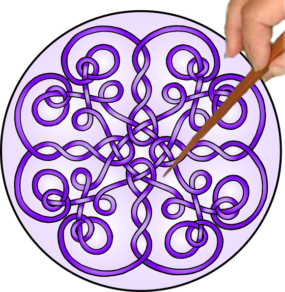 Celtic Twists Mandalynth - Purple - Mindful Tracing Art for Stress, Anxiety and Attention Management