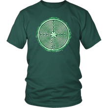 Load image into Gallery viewer, Chartres Cathedral Labyrinth Shirt Green