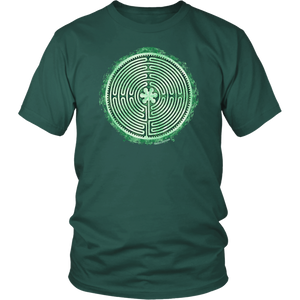 Chartres Cathedral Labyrinth Shirt Green