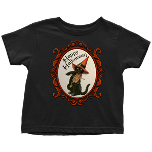 Happy Halloween Vintage Cat and Fiddle Unisex Toddler T-Shirt