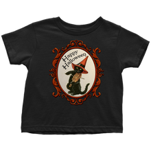 Load image into Gallery viewer, Happy Halloween Vintage Cat and Fiddle T-Shirt for Men, Women and Toddlers
