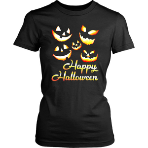 Jack O' Lanterns Happy Halloween Women's Shirt