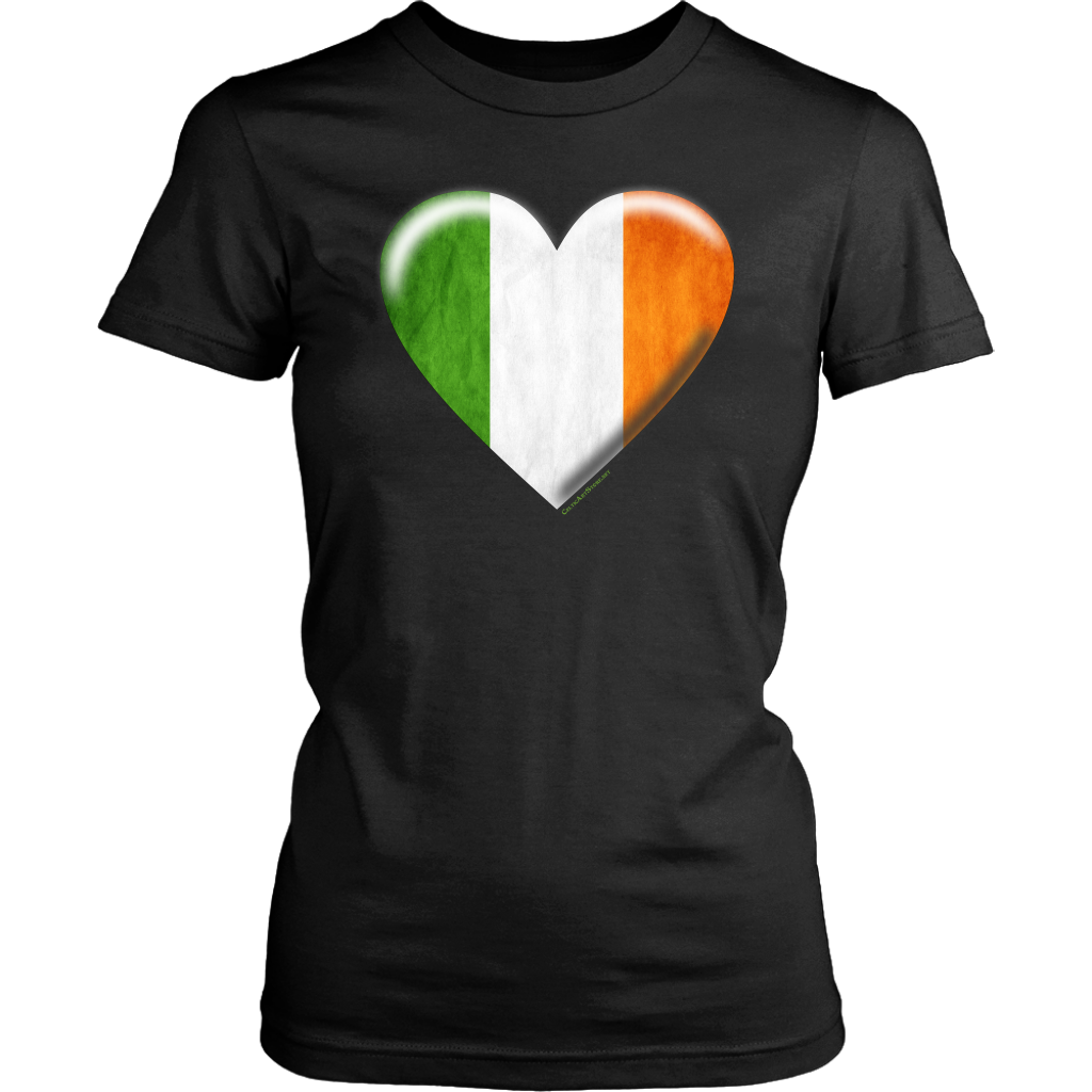 Irish Flag Heart Women's Cotton Tee