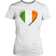 Load image into Gallery viewer, Irish Flag Heart Women's Cotton Tee
