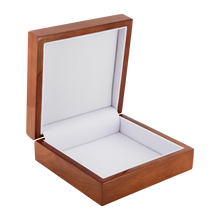 Load image into Gallery viewer, Ely Cathedral Labyrinth Jewelry Box in Red Mahogany, Golden Oak, or Ebony Black