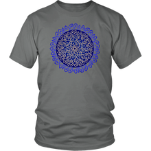 Load image into Gallery viewer, Celtic Art Burst in Dark Blue - Single-line Celtic Knot Unisex T-shirt