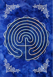 Meis Galicia - Classic - Labyrinth Mindful Tracing Art Journal - Blue Cotton