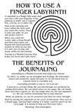 mindful tracing art, labyrinth, finger labyrinth, meditation, mindfulness, therapy, journaling, stress, anxiety, anger, PTSD, ADHD, autism, management