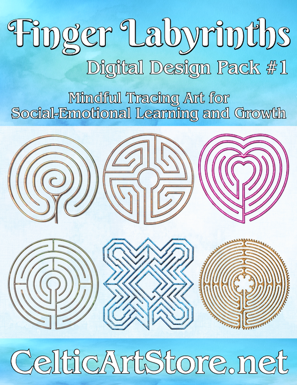 Mindful Finger Labyrinth Digital Download Pack #1