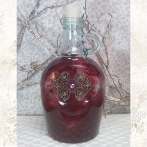 wine jug,jug,jewel bottle, potion bottle,hand painted,bottle,LARP,wedding,gift,b,role playing,potion,live action role playing,dungeons, dragons,pirate,booty,plunder,renaissance, reenactment