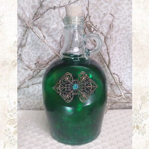 Smokey Emerald Wine Jug