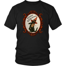 Load image into Gallery viewer, Happy Halloween Vintage Cat and Fiddle Unisex T-Shirt