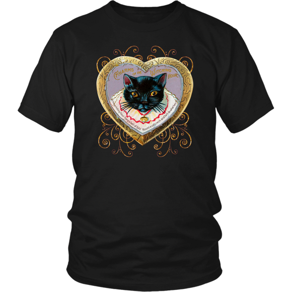 At The Witching Hour Vintage Cat Unisex T-Shirt