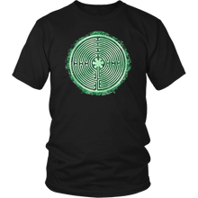 Load image into Gallery viewer, Chartres Cathedral Labyrinth Shirt Black