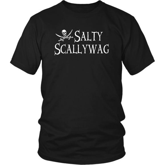 Jolly Roger Salty Scallywag Unisex Pirate T-Shirt