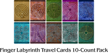 Load image into Gallery viewer, Finger Labyrinth Travel Cards 10-Count Pack - Minful Tracing Art for Stress, Anxiety and Attention Management