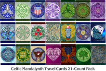 Load image into Gallery viewer, Celtic Mandalynth Travel Cards - Mindful Tracing Art for Stress, Anxiety and Attention Management