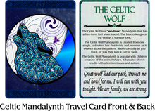 Load image into Gallery viewer, Celtic Mandalynth Travel Cards 10-Pack - Mindful Tracing Art for Stress, Anxiety and Attention Management