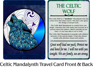 Celtic Mandalynth Travel Cards - Mindful Tracing Art for Stress, Anxiety and Attention Management